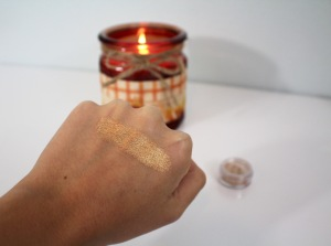 bareMinerals true gold eyeshadow