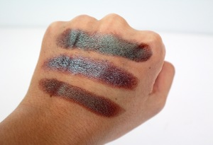 duochrome eyeshadow swatches